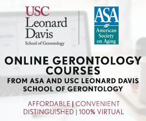 USC and ASA Online Gerontology Courses